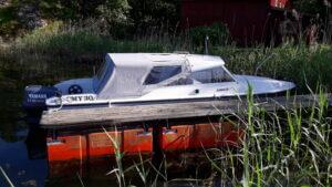 Sömnad av båtkapell till Fjord 19 ht.