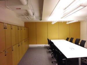 Ljuddämpande vägg kontor i Stockholm.