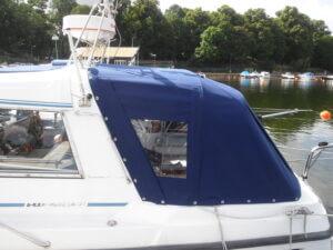 Nytt båtkapell sytt till kund i Stockholm.