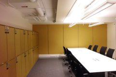 Ljuddämpande väggmodulertill kontor i Stockholm.